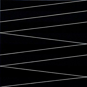 white lines on black canvas