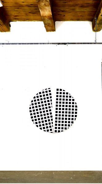 Kreissegment mit Quadraten, 2020#Acryl auf Holzträger-Christian Eder